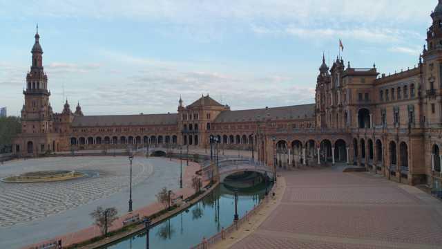 西班牙广场建筑风光