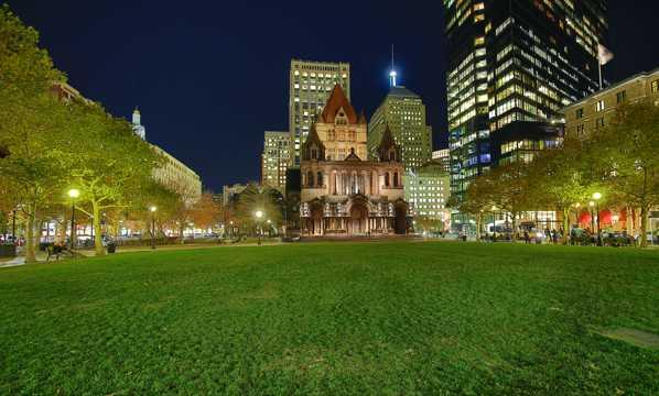 美国波士顿夜景图片