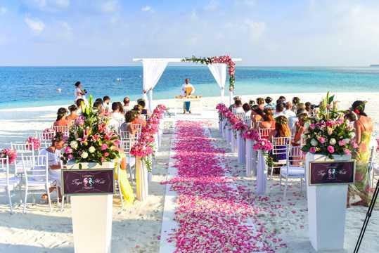 浪漫的海滨婚礼