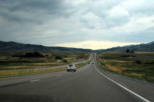 美国大盐湖路上风景