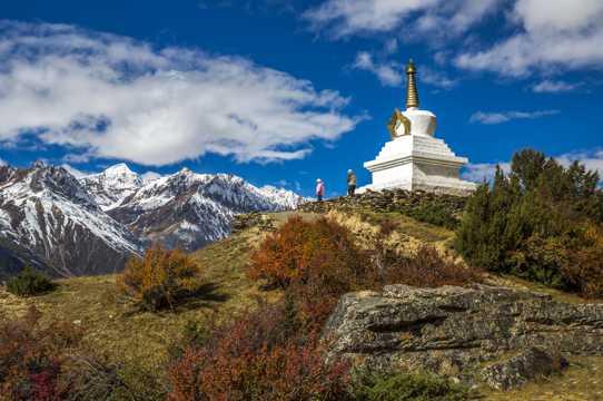 西藏来古冰川风光图片