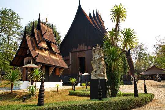 泰国清莱黑庙图片