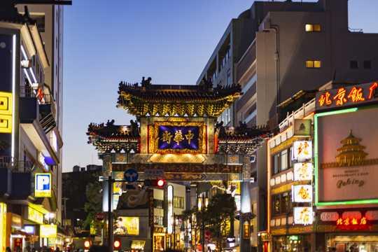 日本横滨建筑风光图片