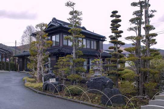 日本忍野八海建筑风光