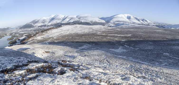 冬天冰雪山林景观
