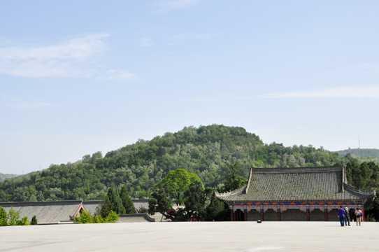 陕西延安轩辕庙光景图片