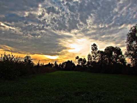 原野暮色天空自然风光