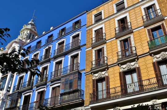 西班牙首都马德里街头建筑景观