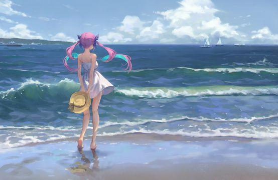 海滨的女孩
