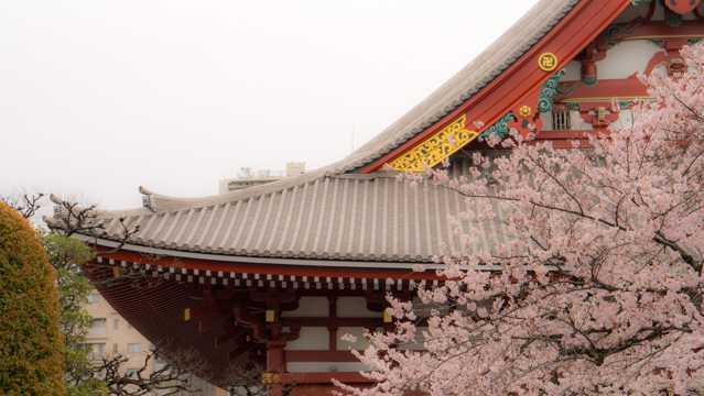日本古典建筑景观图片