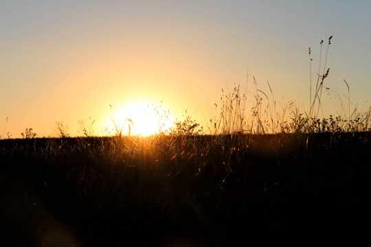 落日黄昏景观图片
