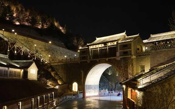 北京古北水镇夜景图片