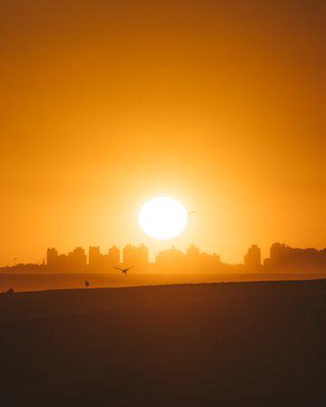 都市朝阳景观图片