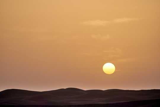 日落夕照景致图片