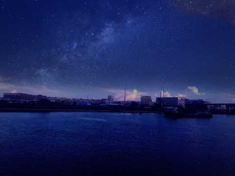 美妙璀璨的夜空图片