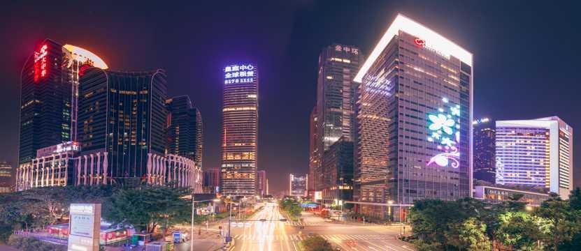 广东深圳辉煌夜景图片
