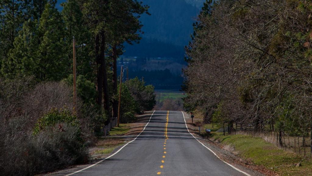 笔直向前的公路
