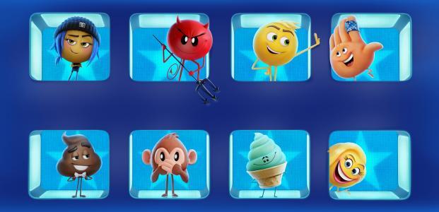 表情符号电影,动画,冒险,喜剧,便便,Hi-5,Smiler,越狱,基因,冰淇淋,Mary Meh,4K,8K