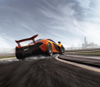 迈凯轮P1,赛车,极限竞速5,5K