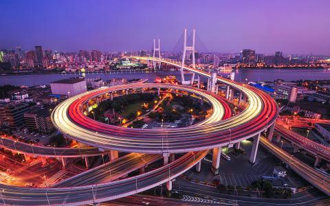 南浦大桥黄浦江上海