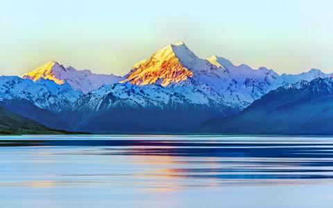 奥拉基,库克山,新西兰,4K