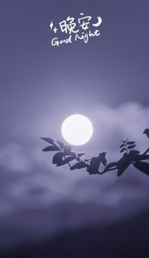 晚安迷人唯美的月亮