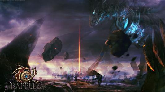 Rappelz,游戏,MMORPG,龙,岩石,战斗,幻想,石头,天空,截图,4K,5K,PC(水平)