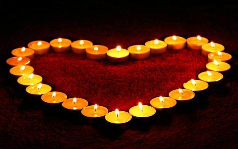 爱的心蜡烛