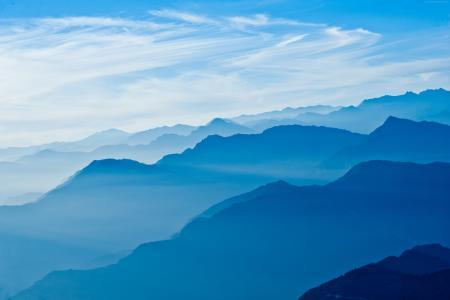 喜马拉雅山,5k,4k壁纸,尼泊尔,山,天空,云(水平)