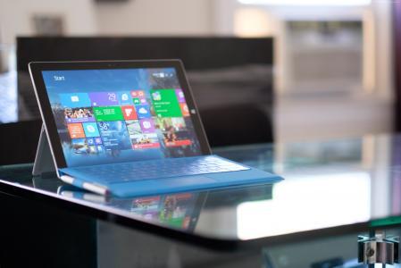 微软Surface Pro 3,平板电脑,Gen 3,laplet,Intel,表格,蓝色,界面,评论(水平)