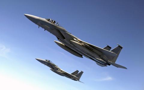 F 15老鹰飞越太平洋