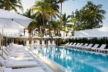 大都会由COMO,迈阿密,旅馆,水池,日光浴室,水,棕榈,天空,旅行,假期,预定(水平)