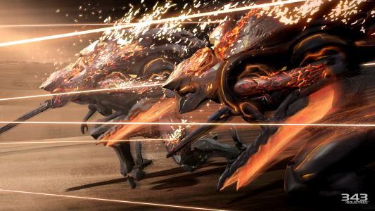 光环5:守护者,游戏,fps,科幻,射手,火,激光,武器,战斗,截图,4k,5k,个人电脑,2015(水平)