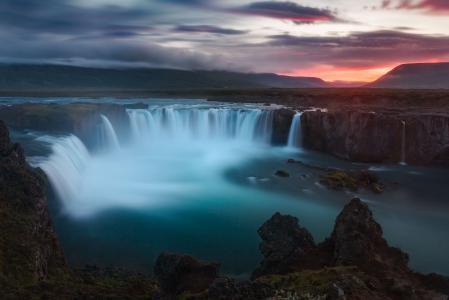 Godafoss,瀑布,冰岛