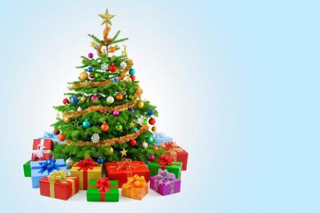 圣诞树,装饰,礼物,礼物,5K