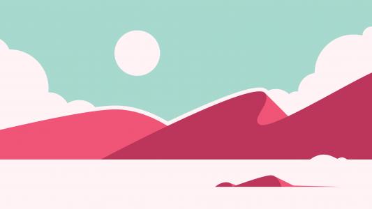 月亮,沙漠,最小,4K