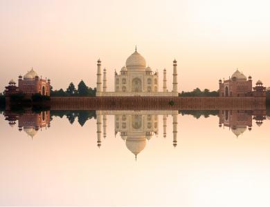 泰姬陵,亚穆纳河,印度阿格拉,5K,高清