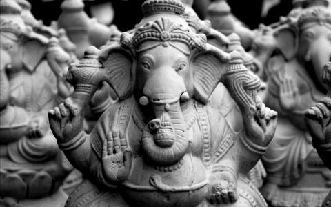 Ganesha阁下,Ganapati,Vinayaka,印度上帝,雕象,HD