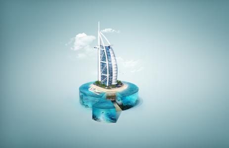 Burj Al阿拉伯,迪拜,HD,4K