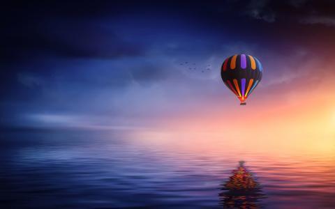 热空气气球乘驾