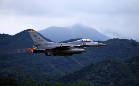F-16,猎鹰,美国陆军,美国空军,通用动力(横向)