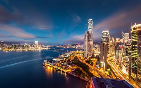香港海港夜灯