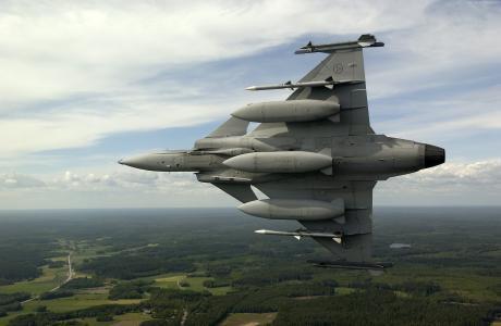 萨博,JAS 39,鹰狮,多用途战斗机,飞机,瑞典空军,机动(水平)