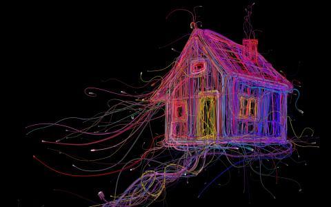 房子,CGI,4K,8K