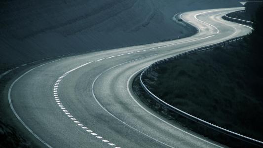 道路,4k,5k,高清壁纸,转,抽象,轨道(水平)