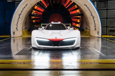 宾尼法利纳H2,超级跑车,氢,氢燃料电池,跑车,白色(水平)