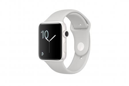 苹果手表系列2,智能手表,审查,iWatch,壁纸,苹果,显示器,银色,真正的未来派小工具(水平)