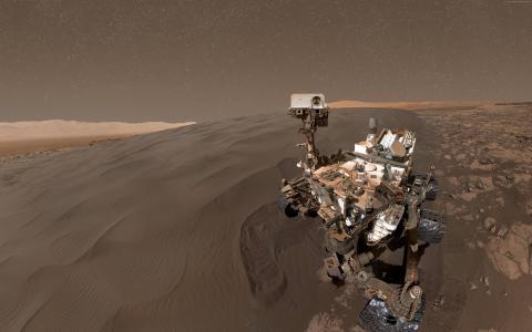 好奇号流浪者,自拍照,火星,duna(水平)