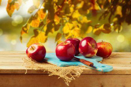 苹果,砧板,刀,高清,5K