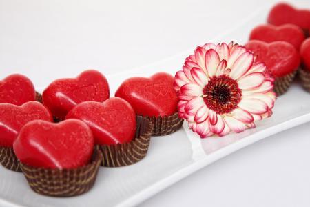 情人节,2月14日,花,菊花,巧克力,糖果,心中,爱(水平)